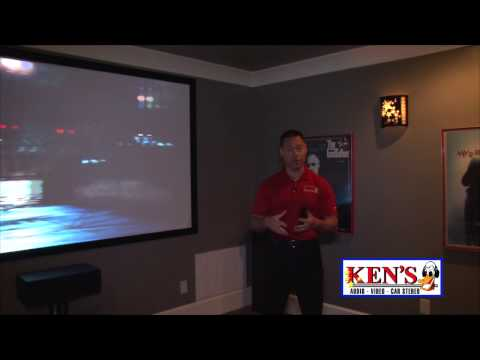 Ken's Home Theater - BENQ and 110 inch screen