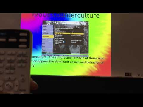 Using Projector Remote to Advance Slides