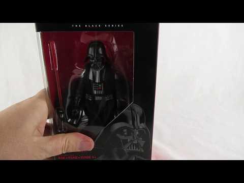 HD Darth Vader black series action figure unboxing