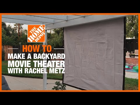 Outdoor Movie Theater with @Living to DIY with Rachel Metz | The Home Depot DIY On-Trend Workshops