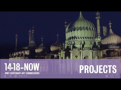 Dr Blighty projections at Brighton Festival