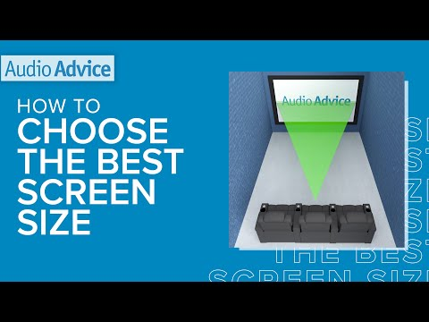 How to Choose The Best Home Theater Screen Size