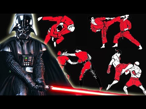 How many fighting styles does Darth Vader know in Star Wars?