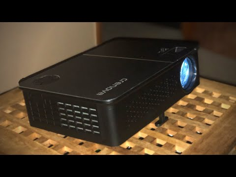 Brightest LED Projector Under $200! - Crenova XPE760 Unboxing & Review | Handy Hudsonite