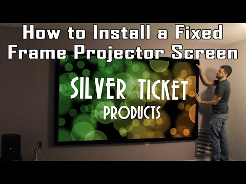 [TiG] Tutorial: How to Install a Fixed Frame Projection Screen - Silver Ticket STR Series