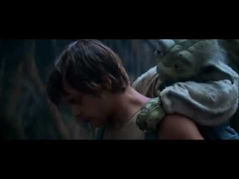 Yoda and Luke Cave Scene from Empire Strikes Back