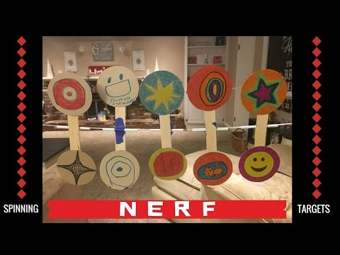 Awesome DIY Spinners for Nerf Target Practice