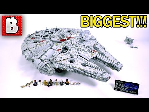 LEGO Star Wars 75192 Millennium Falcon 2017 Ultimate Collector Series Review! BIGGEST SET EVER!!!