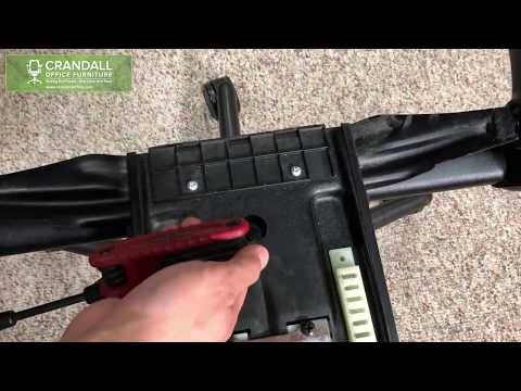 Fix your sinking Steelcase 462 V1 Leap Chair - Gas Cylinder Set Screw Adjustment Instructions