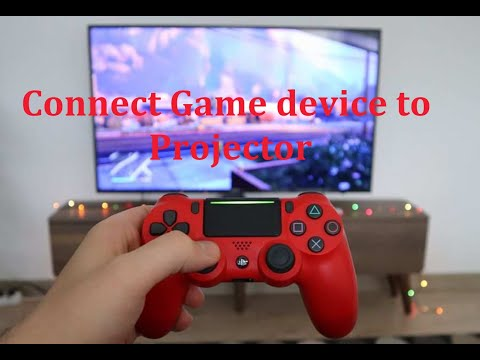 How to connect a Game console to a projector. PS3, PS4, PS5, Xbox, gaming device