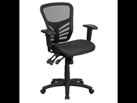 Flash Furniture Mid-Back Executive Chair Black 250-Lb. Capacity Model# HL0001