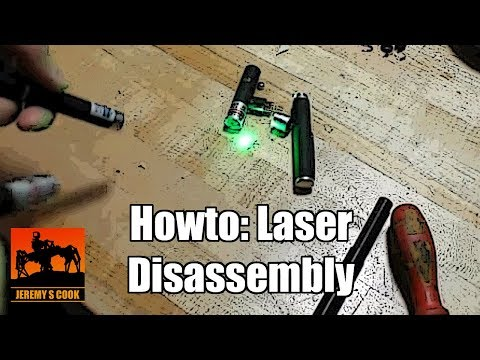 Disassemble laser pointer howto