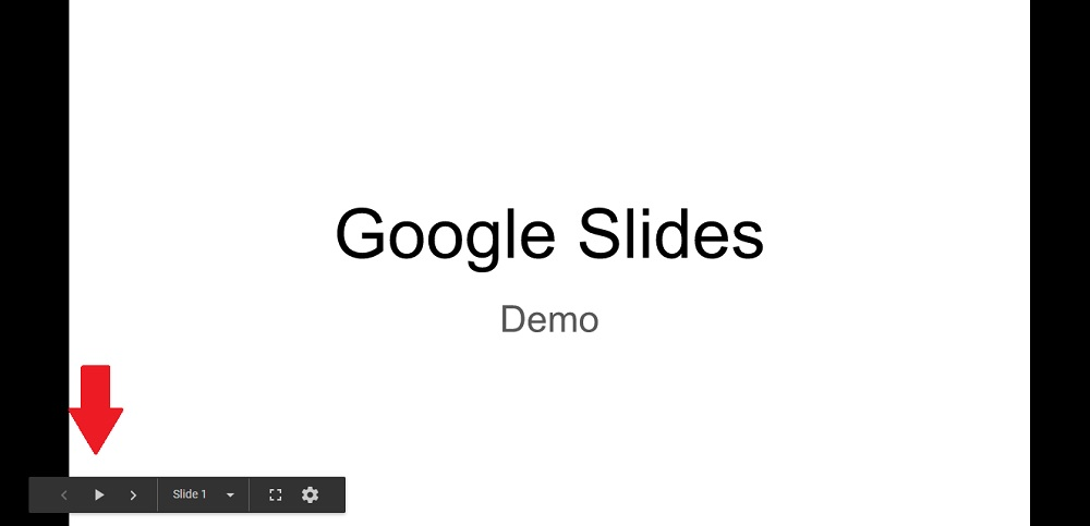 A demo of a finished transition slides