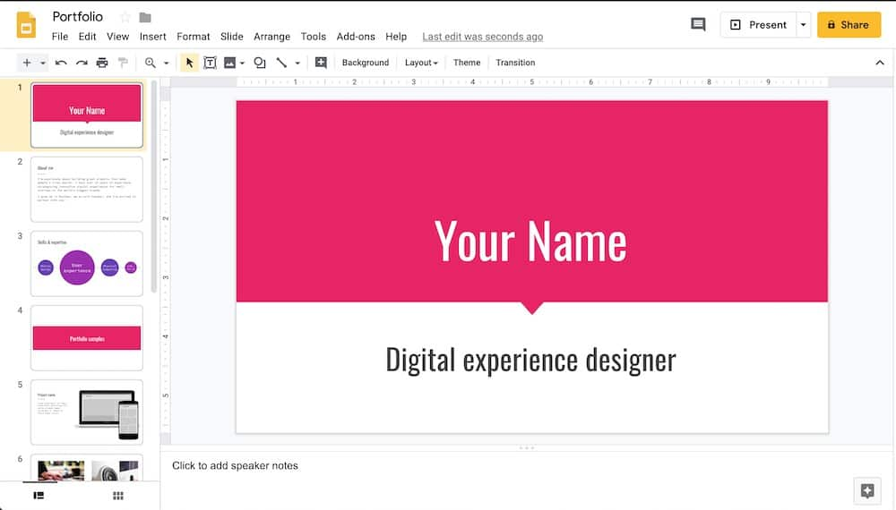 google slides example