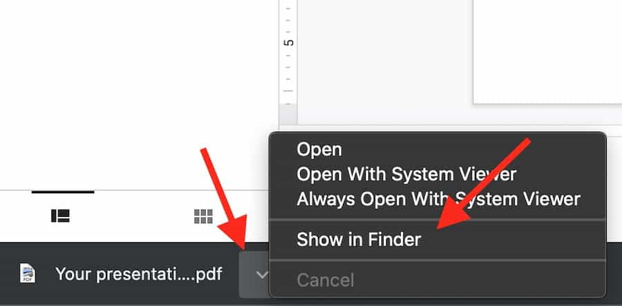 open your slide file in download folder