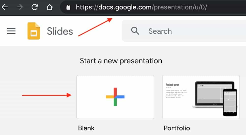 start a new presentation slide