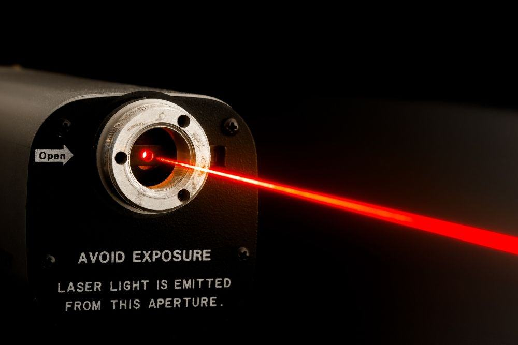a red laser beam