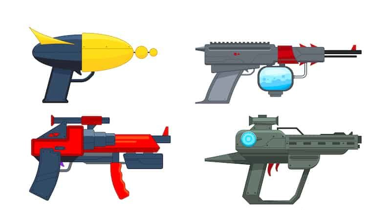 phaser and laser guns