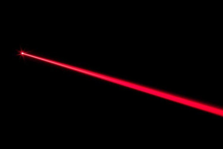 red laser travel far