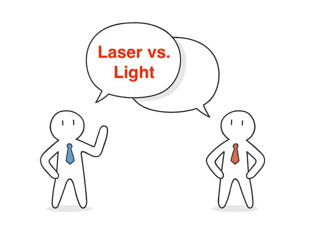 laser vs light