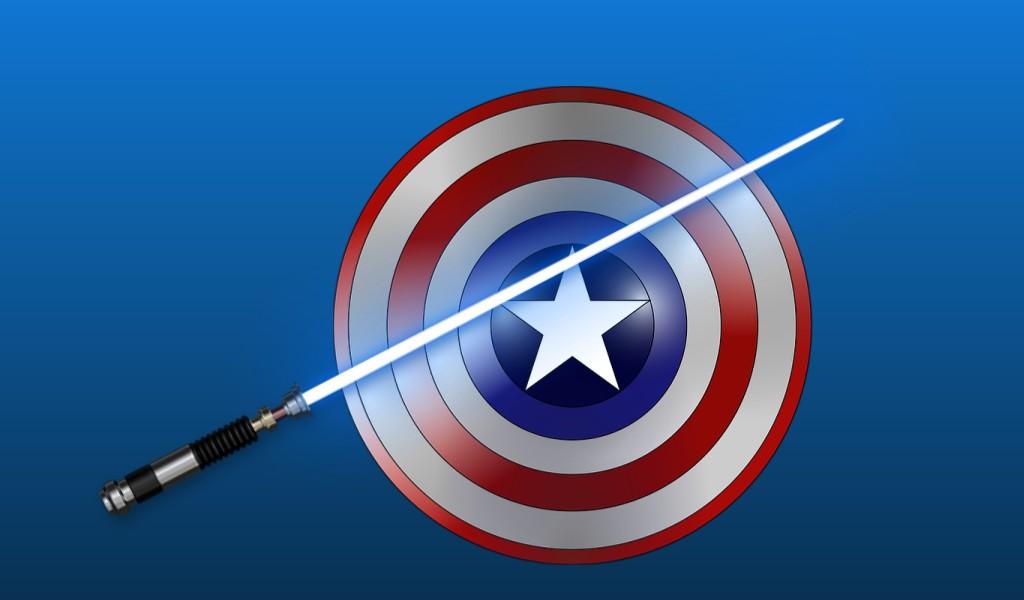 can lightsaber-cut captain america shield