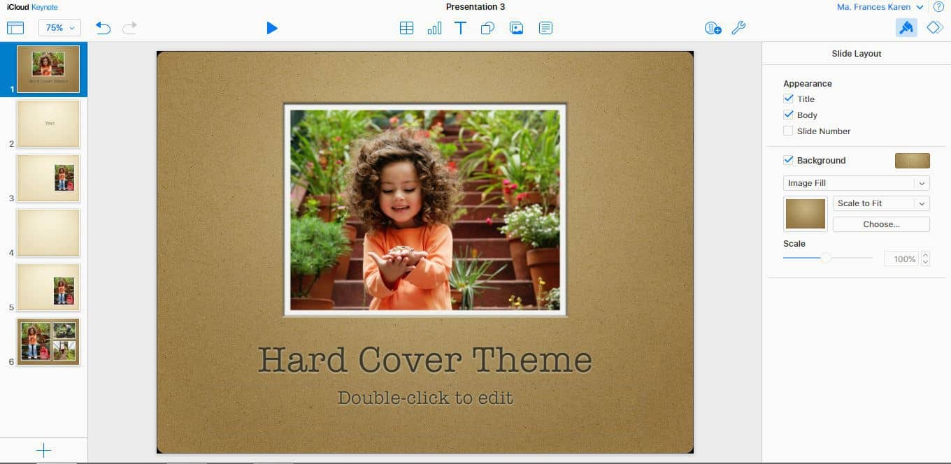 Hard Cover Keynote theme