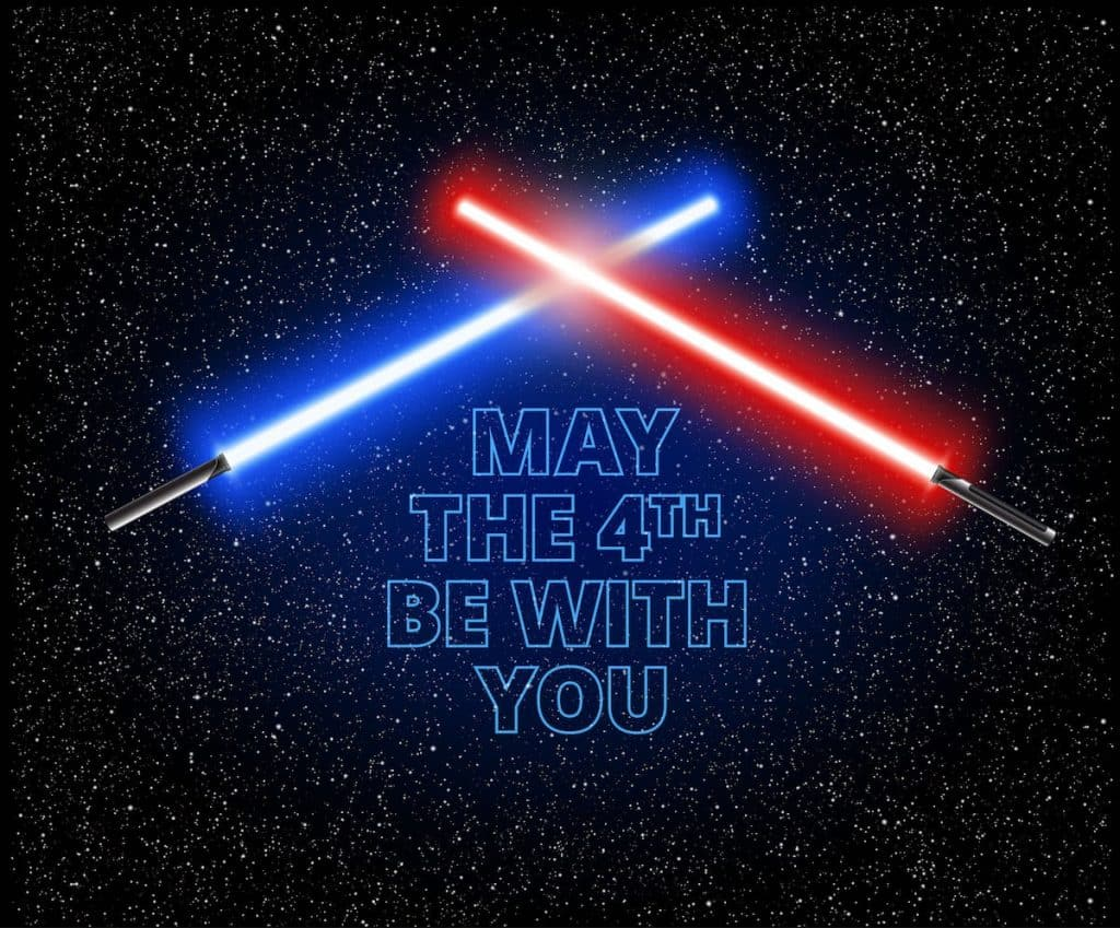 2 lightsabers may the 4th be with you