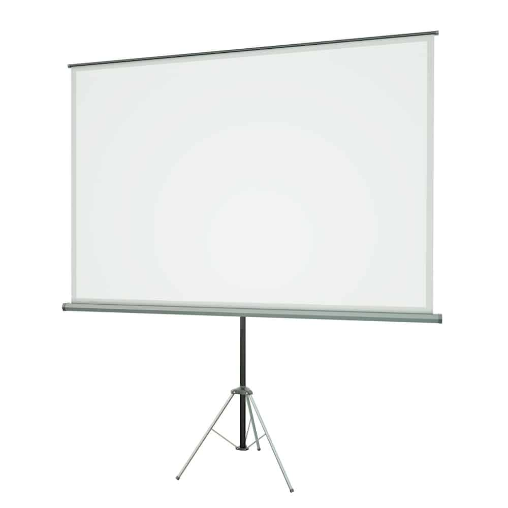 a flat projector screen