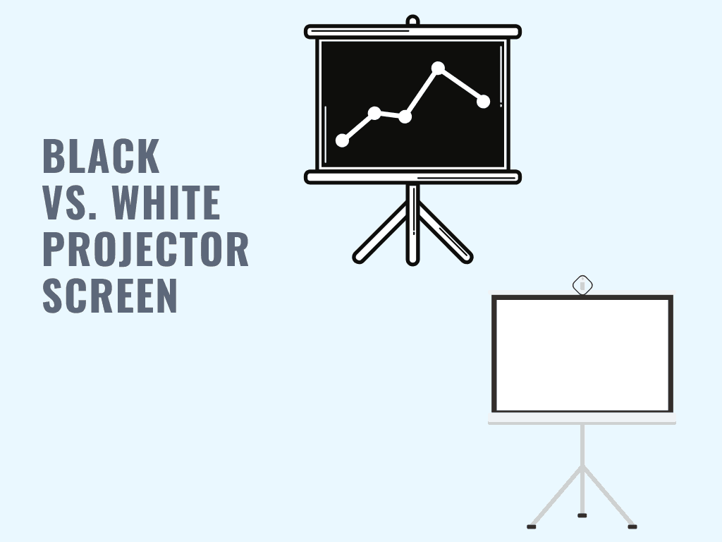 black vs white projector screen