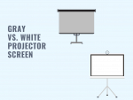 gray vs white projector screen