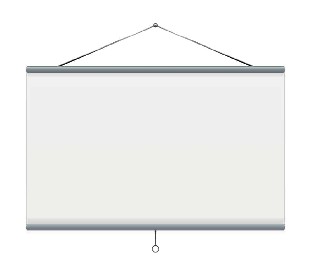 how to fix retractable projector screen