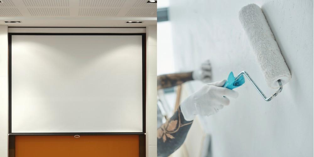 projector screen vs wall paint