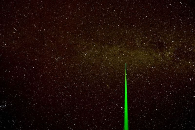 a green laser pointer for astronomy