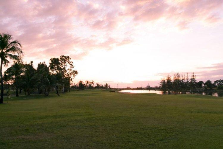 big yard before sunset