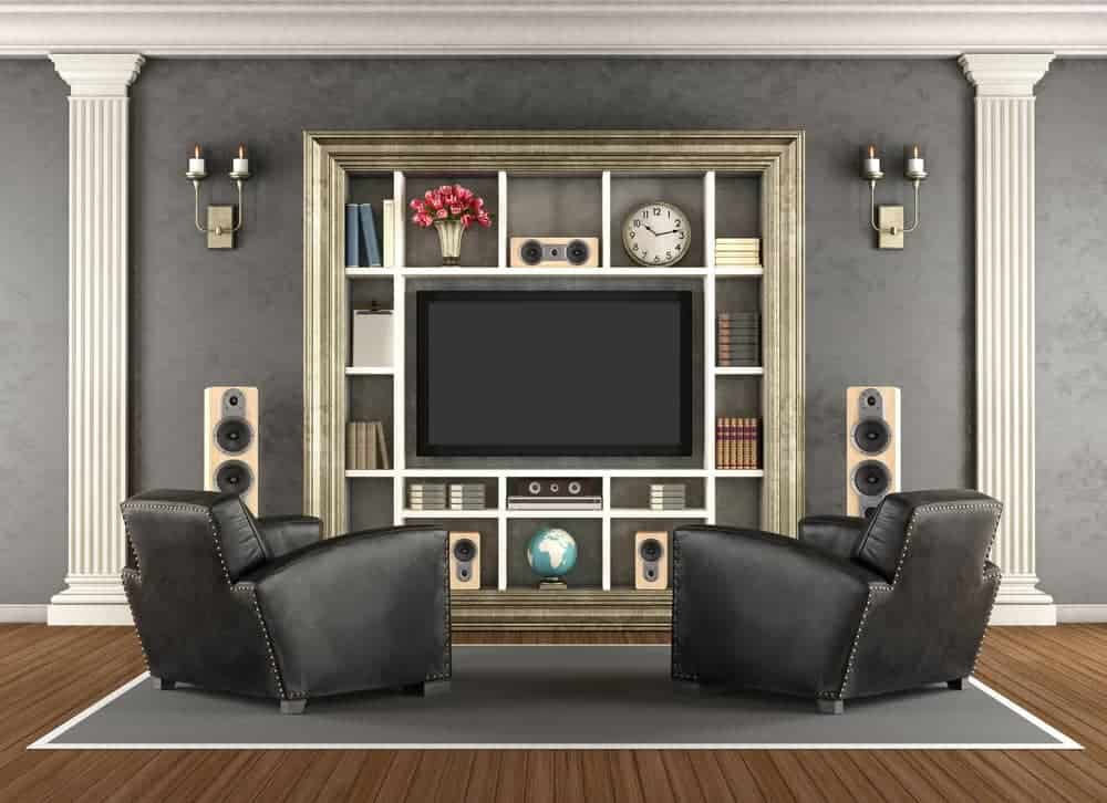 Home cinema in classic style with double seating