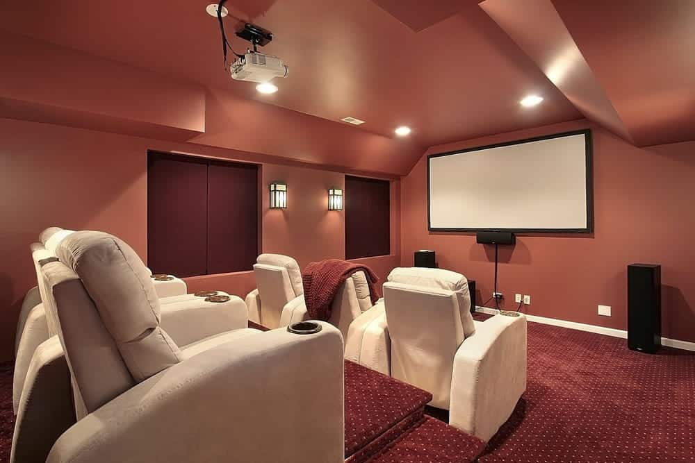 Indoor projector theater seating