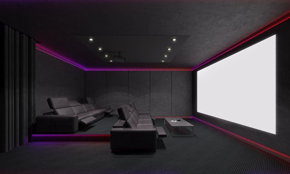 modern home theater seating