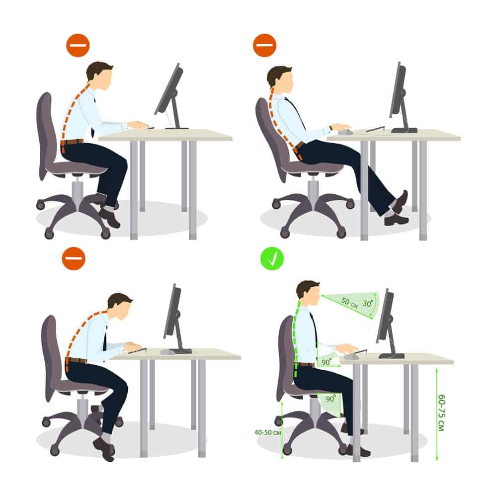 The correct way to sit up straight in your office chair
