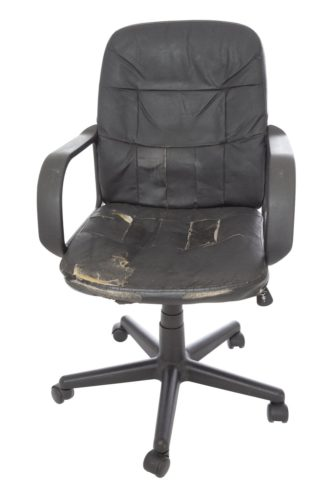 old leather office chair