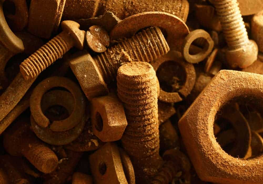 rusty nuts and bolts