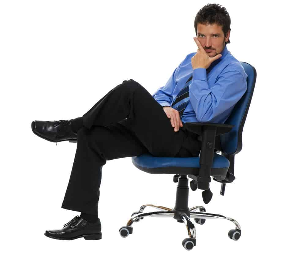 businessman on Steelcase Criterion office chairbusinessman on Steelcase Criterion office chair