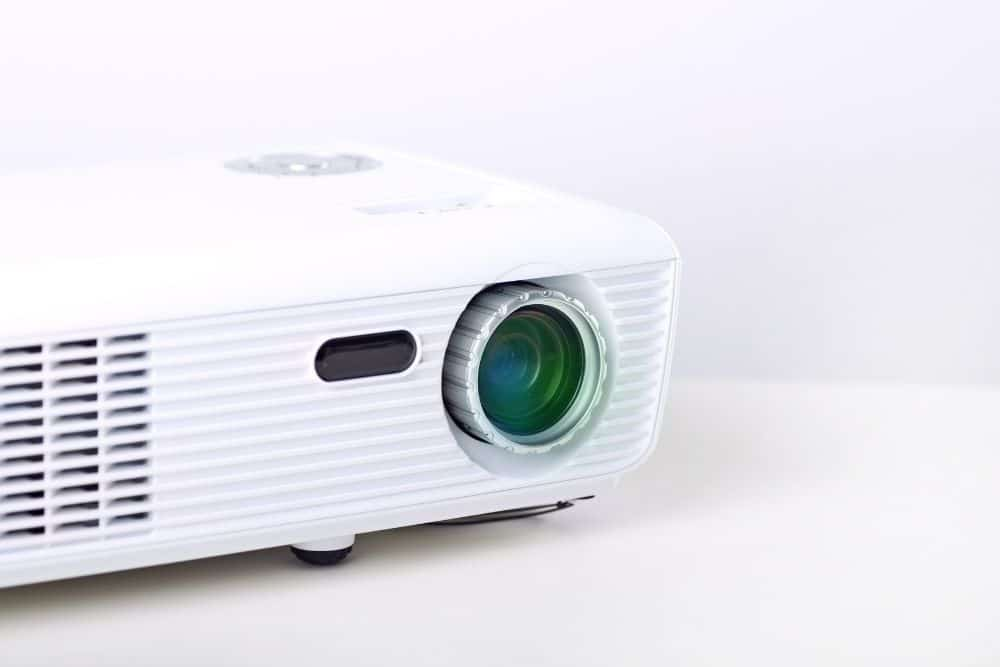 A Budget Short Throw Projector Lying on the Table