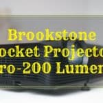 [Review] Brookstone Pocket Projector Pro-200 Lumens