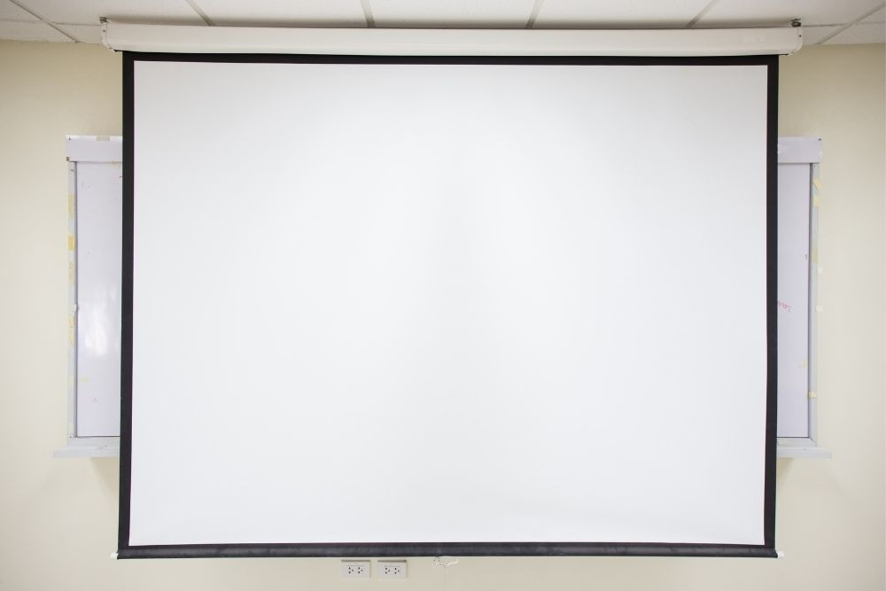 a projector screen