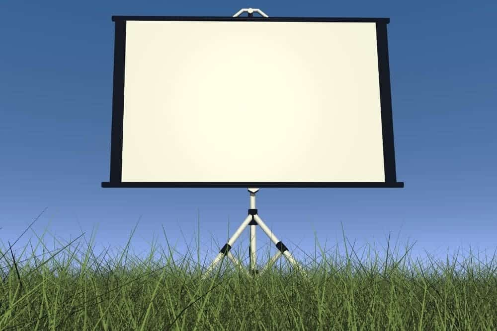 an outdoor projector screen