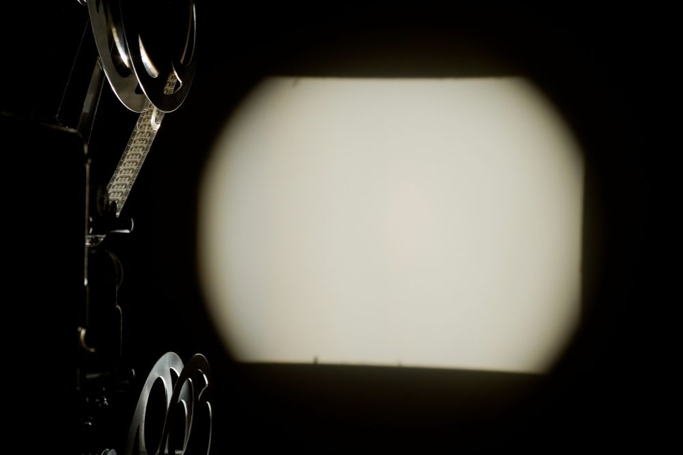 projecting in dark room
