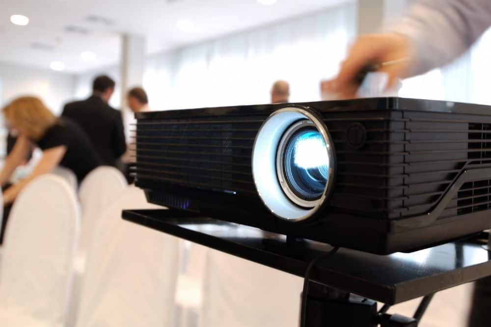projector with daylight lumens in a large room