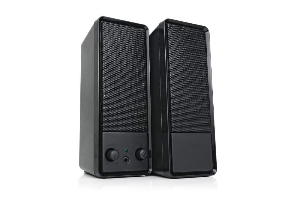 two speakers for projector