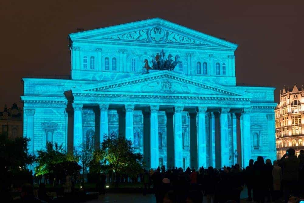 3D projection mapping on the Bolsoi Theatre