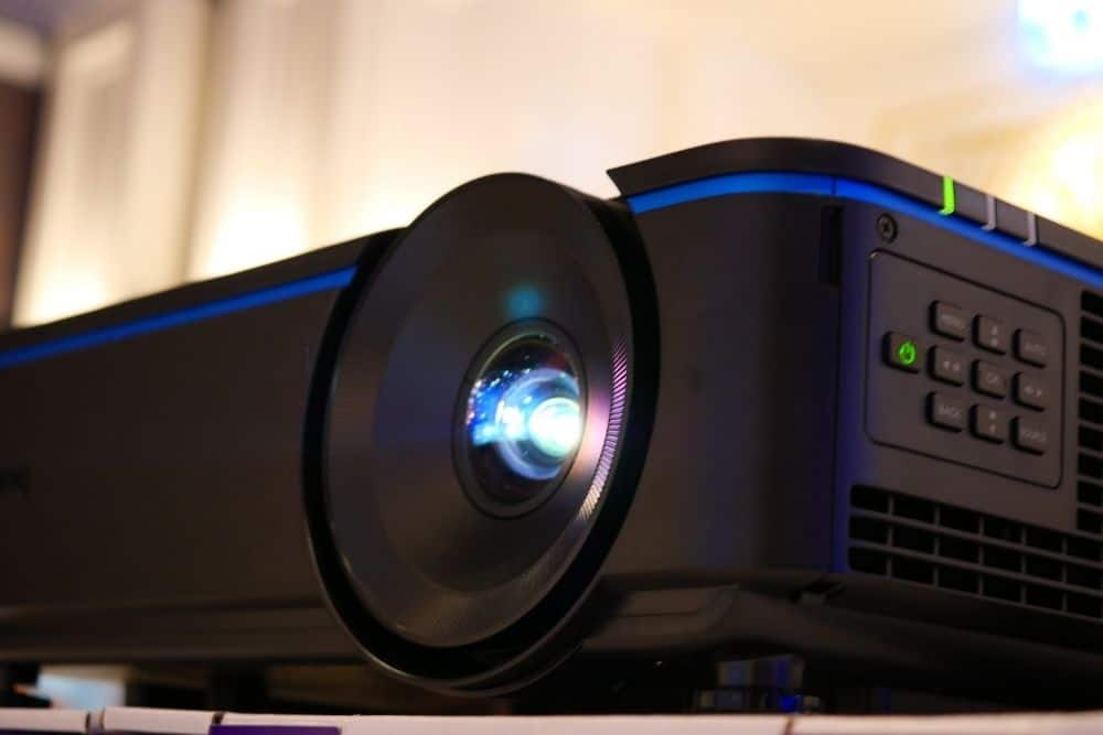 a portable PS4 projector